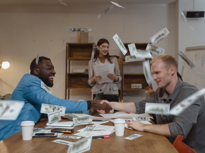 Accredited Investors making a business deal